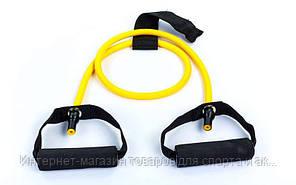 Эспандер трубчатый с ручками с дверным фиксатором FI-2659-Y 4LB (латекс, d-6x8мм, l-120см, желтый)