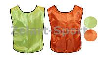 Манишка для футбола мужская двусторонняя с резинкой UR CO-3902-OGN (PL,р-р XL-65х45+14см, оранж-сал)
