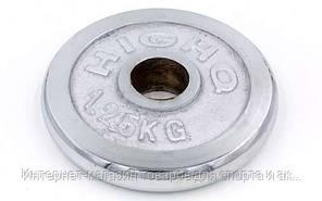 Блины (диски) хромированные d-30мм ТА-1450 1,25кг (металл хромированный)