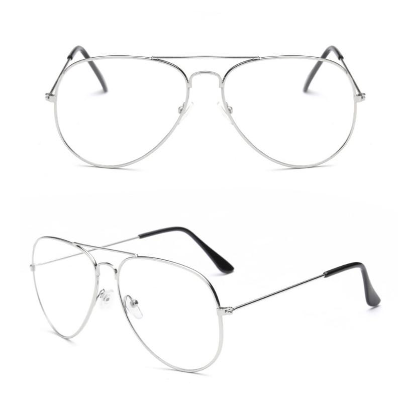 Очки с прозрачными линзами авиаторы Ray Ban в серебристой оправе