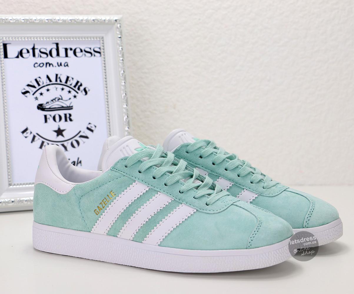Кросівки-кеди жіночі Adidas Gazelle Mint оригінал | Адідас Газель жіночі м'ятні