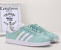Кроссовки-кеды женские Adidas Gazelle Mint оригинал | Адидас Газель женские мятные, фото 1