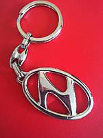 Брелок для ключей металлический оригинальный марка авто хюндай HYUNDAI