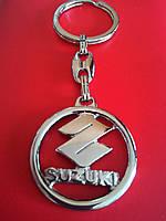 Брелок для ключей металлический оригинальный марка авто сузуки SUZUKI, фото 1