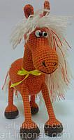 Игрушка Лошадка с Лохматой гривой вязаная крючком, фото 1