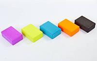 Йога-блок RI-7736 (EVA 75гр, р-р 23 x 15,5 x 7,5см, цвета в ассортименте)