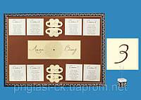 Карта-схема рассадки гостей за свадебными столами в шоколадной гамме