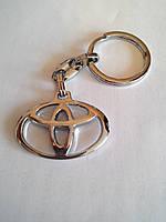 Брелок для ключей металлический оригинальный марка авто тоёта Toyota, фото 1
