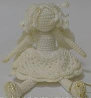 Игрушка Ангел, вязаный крючком, фото 1
