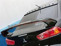 Спойлер из абс пластика на Mitsubishi Lancer 10 2007-2016