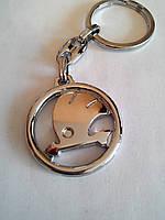 Брелок для ключей металлический оригинальный марка авто шкода Skoda, фото 1