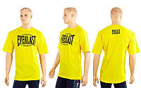 Футболка спортивная EVERLAST CO-3767-8 желтый (х-б, р-р M-XL)