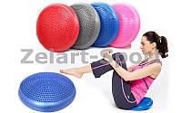 Подушка балансировочная массажная FI-4272 BALANCE CUSHION (PVC, d-33см x 5см, 900гр, цвета в ассортименте)