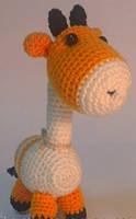Детская Игрушка Жираф вязаный крючком, фото 1