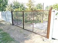 Ворота металлические с сеткой рабица