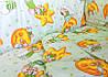 Постельное белье в детскую кроватку Зеленые мишка на луне