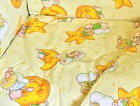 Постельное белье в детскую кроватку Желтый, мишка на луне