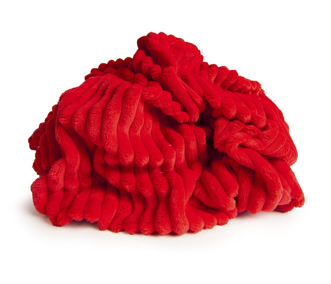 ✁ Отрез плюш Minky Stripes красный 100х80 см