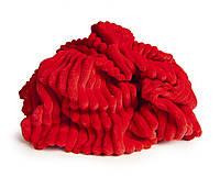 ✁ Отрез плюш Minky Stripes красный 100х80 см, фото 1