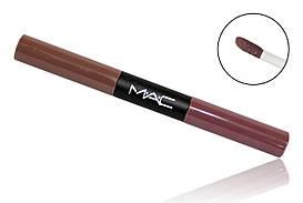 Матовый блеск для губ M.A.C Ultra Matte Lip Waterproof  lip gloss (2 в1)