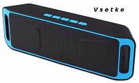 Портативный Беспроводной Bluetooth Динамик стерео сабвуфер USB Колонка TF FM Радио Music Box SC-208, фото 1