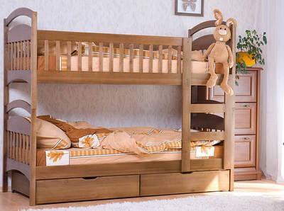 Двухъярусные кровати из ольхи