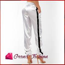 """Стильные штаны """"Атлас"""" / белые, фото 3"""