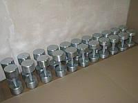 Гантельный ряд без покрытия от 10 до 30 кг