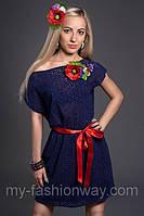 Женское платье из вышитой ткани (прошва)