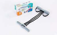 Эспандер многофункциональный для фитнеса 3-х полосный PS FI-270R (латекс,пластик, d-2,8x11мм,l-45см)