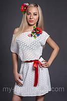 Летнее женское платье из натуральной ткани