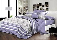 Комплект постельного белья евро ранфорс 100% хлопок. Постільна білизна. (арт.7903)