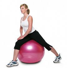 М'яч для фітнесу 55 см KingLion 600 гр гладкий для вправ різні кольори