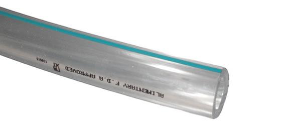 Шланг молочный прозрачный 14мм х 24мм х 30м, PVC