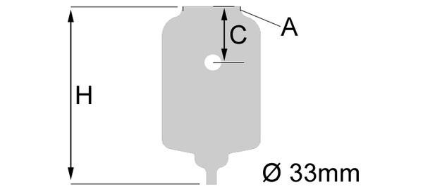 Колба открытая стеклянная со шкалой, два входа боковых