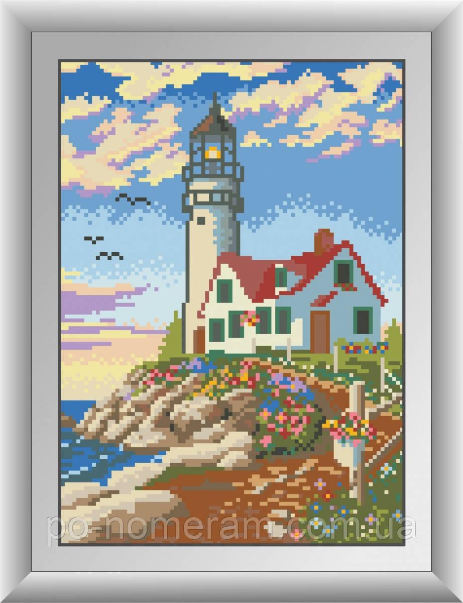 Картина алмазная вышивка Dream Art Дом у маяка (квадратные камни, полная зашивка) (DA-30131) 22 х 31 см (Без подрамника)