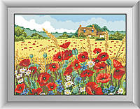 Набор алмазная вышивка Dream Art Полевые маки (квадратные камни, полная зашивка) (DA-30398) 35 х 48 см