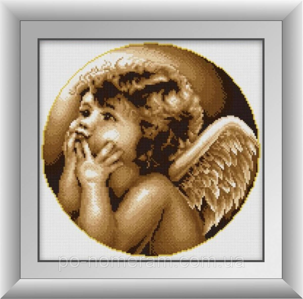 Алмазная живопись Dream Art Задумчивый ангел (квадратные камни, полная зашивка) (DA-30396) 38 х 39 см (Без подрамника)
