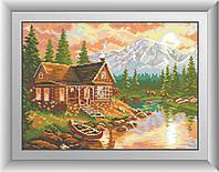 Алмазная мозаика Dream Art Вечер в горах (квадратные камни, полная зашивка) (DA-30397) 31 х 43 см