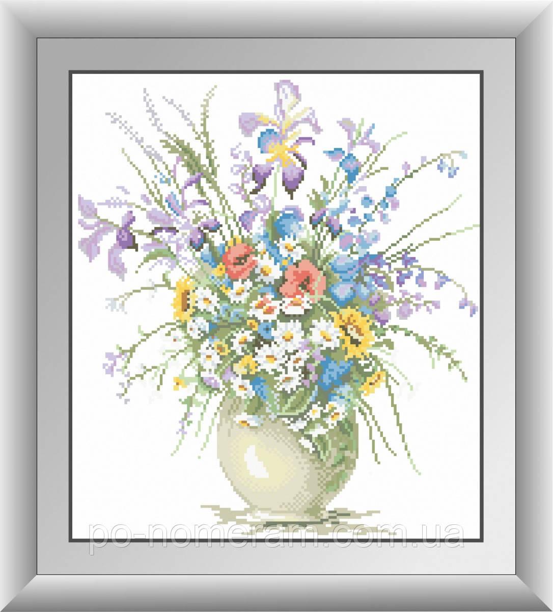 Алмазная вышивка Dream Art Полевые цветы (квадратные камни, полная зашивка) (DA-30403) 38 х 43 см (Без подрамника)
