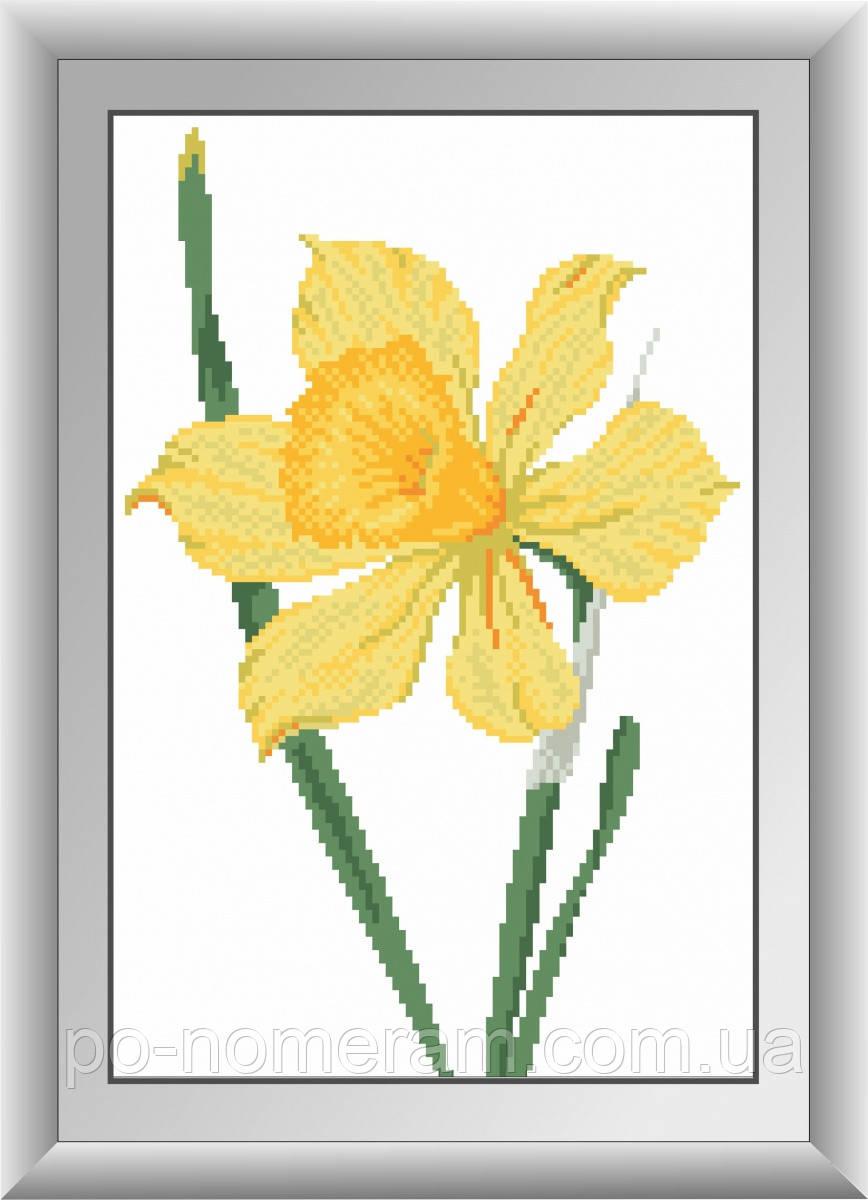 Картина из страз Dream Art Нарцисс (квадратные камни, полная зашивка) (DA-30407) 24 х 36 см (Без подрамника)