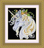 Алмазная техника Dream Art Единорог в цветах (квадратные камни, полная зашивка) (DA-30415) 36 х 43 см