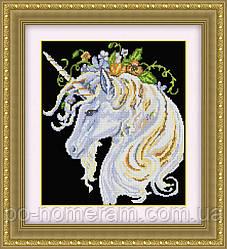 Набор алмазная вышивка Dream Art Единорог в цветах (квадратные камни, полная зашивка) (DA-30415) 36 х 43 см (Без подрамника)