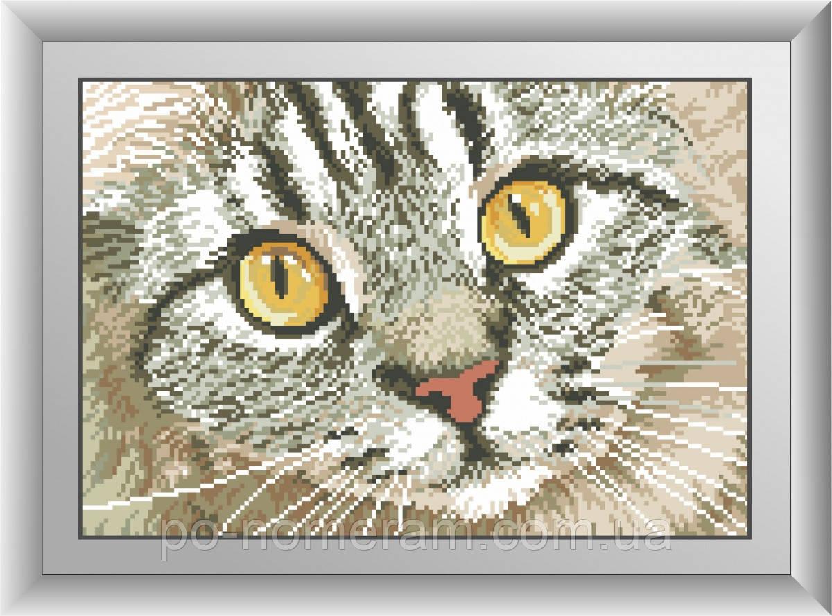 Алмазная техника Dream Art Кошачий взгляд (квадратные камни, полная зашивка) (DA-30418) 26 х 38 см (Без подрамника)