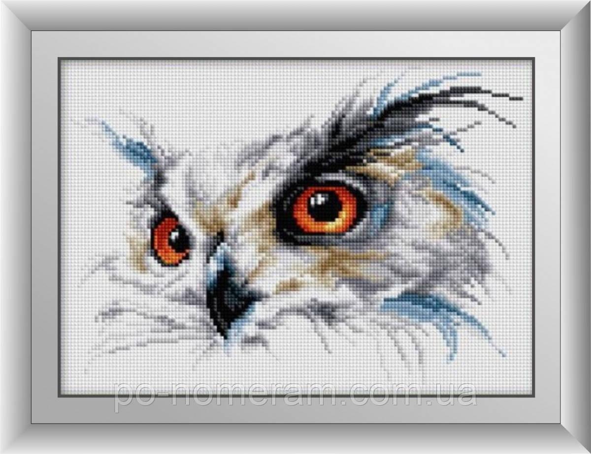Картина из мозаики Dream Art Филин (квадратные камни, полная зашивка) (DA-30431) 25 х 34 см (Без подрамника)
