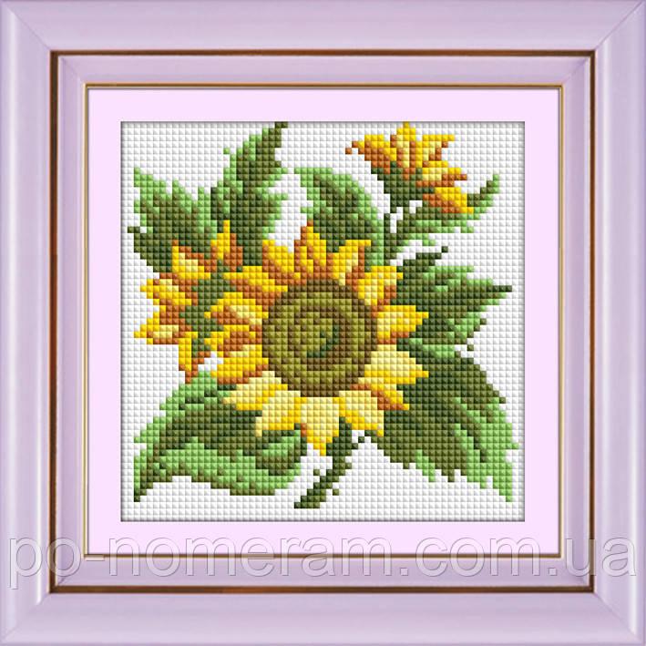 Набор алмазная мозаика Dream Art Подсолнух (квадратные камни, полная зашивка) (DA-30429M) 16 х 16 см (Без подрамника)
