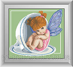Набор алмазная вышивка Dream Art Чайная фея (квадратные камни, полная зашивка) (DA-30437) 42 х 47 см (Без подрамника)