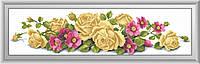 Набор алмазная мозаика Dream Art Розы с шиповником (квадратные камни, полная зашивка) (DA-30449) 21 х 84 см
