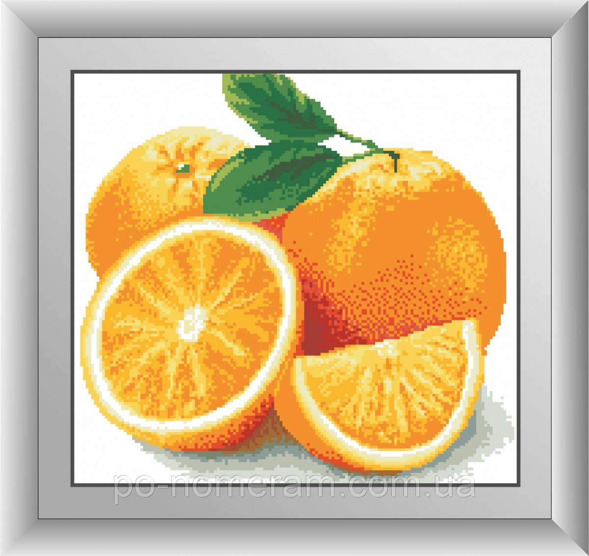 Картина из мозаики Dream Art Апельсин (квадратные камни, полная зашивка) (DA-30453) 38 х 41 см (Без подрамника)