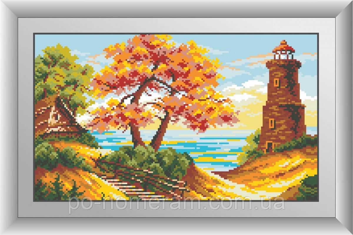 Алмазная живопись Dream Art Морской пейзаж (квадратные камни, полная зашивка) (DA-30458) 26 х 44 см (Без подрамника)
